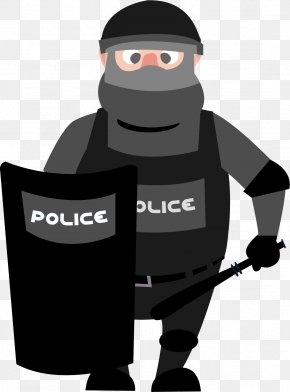 Armed Policeman - Cartoon Graphic Design Icon PNG