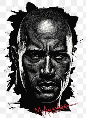 The Rock Drawing - Drawing Dwayne Johnson PNG