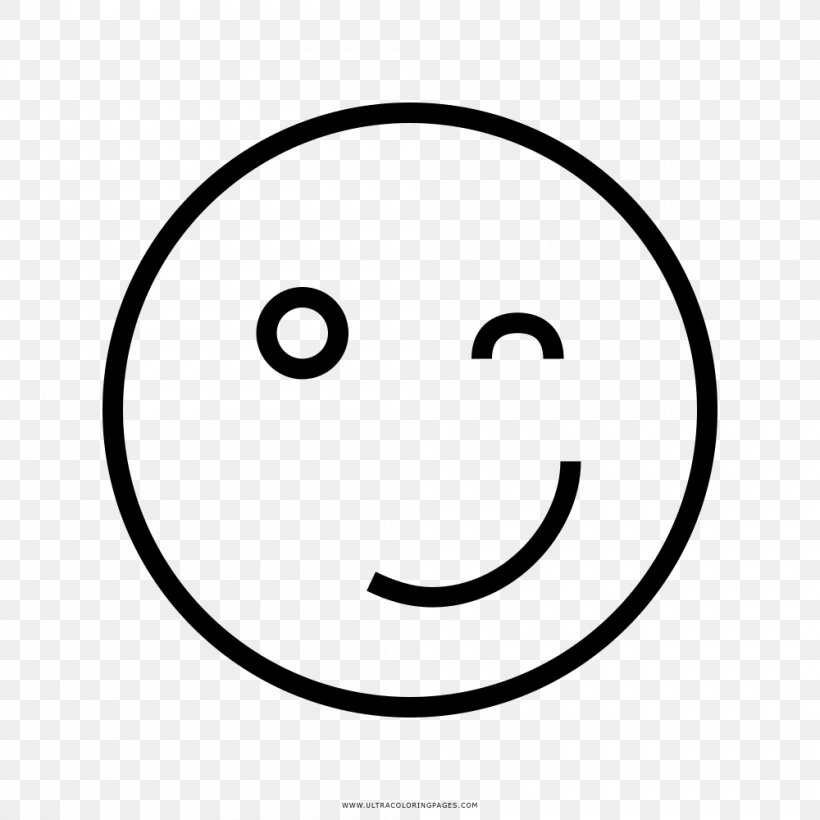 Smiley Line Art Drawing Wink Emoticon Png 1000x1000px