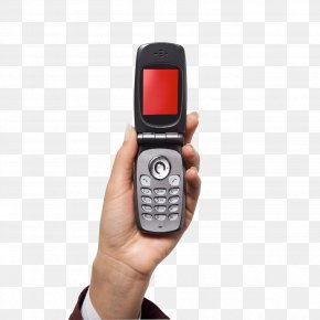 The Hand Holding A Cell Phone - Mobile Phones Flip Clip Art PNG