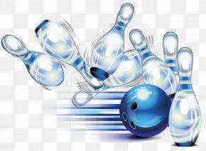 Blue Bowling - Ten-pin Bowling Bowling Ball Bowling Pin PNG