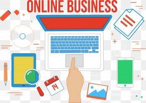 Computer Phone Set - Business Online And Offline Computer Barangan PNG