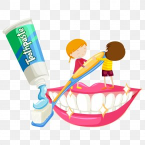 Squeezing Toothpaste Child - Electric Toothbrush Tooth Brushing Illustration PNG