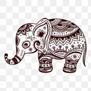 Animals Elephant Print - T-shirt Elephant Pillow Blue Bedding PNG
