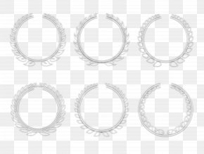 The Simple But Elegant White Wheat Rosette Vector - White Circle Area Angle Pattern PNG