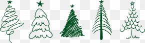 Christmas Tree - Christmas Tree Drawing Santa Claus PNG