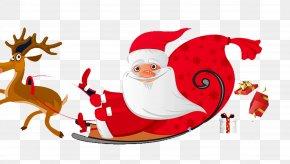 Santa's Sleigh - Santa Clauss Reindeer Santa Clauss Reindeer Flight Clip Art PNG