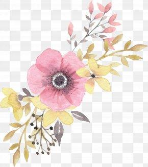 Floral Decoration - Floral Design Flower Watercolor Painting PNG