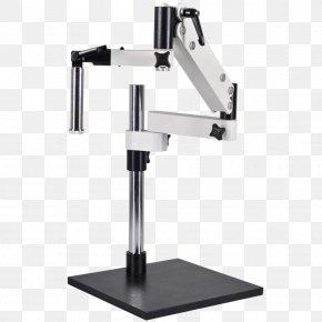 Stereo Microscope With Camera - Stereo Microscope Digital Microscope OM2300S-V7 7X 45X Zoom Stereo Boom Microscope Light PNG