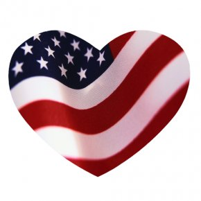 Heart Flag Cliparts - Flag Of The United States Heart Clip Art PNG