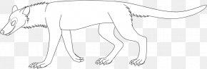 Nose - Carnivora Line Art Figure Drawing White PNG