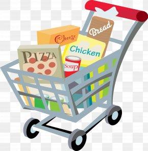 Shopping Cart - Grocery Store Shopping Cart Supermarket Clip Art PNG