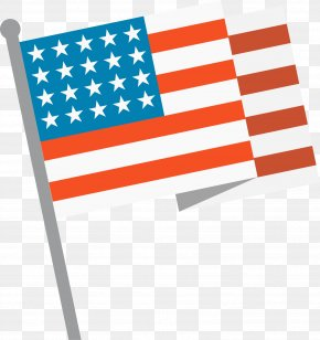 Vector Hand-painted American Flag - Flag Of The United States Illustration PNG