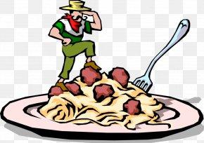 Clip Art Spaghetti And Meatballs - Pasta Spaghetti With Meatballs Clip Art Italian Cuisine PNG