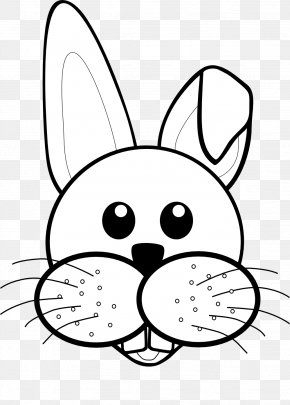 Black And White - Easter Bunny Rabbit Black And White Clip Art PNG