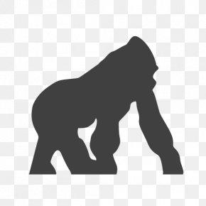 Gorilla Vector - Gorilla Primate African Elephant Endangered Species PNG
