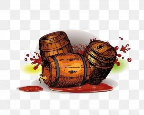 Wine Cask - Red Wine Barrel Oak Illustration PNG
