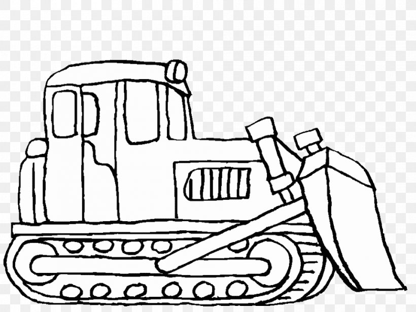 Car Heavy Machinery Coloring Book Bulldozer Truck, PNG ...