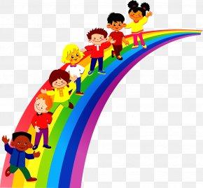 Rainbow Children - Pre-school Kindergarten Information Clip Art PNG