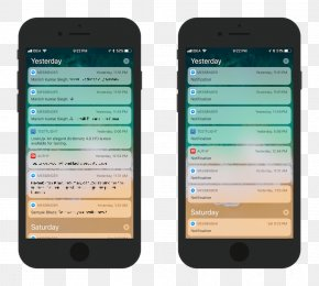 Iphone Notification - IPhone X IOS 11 Notification Center PNG