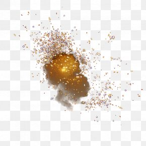 Powder Particles Explode Light PNG