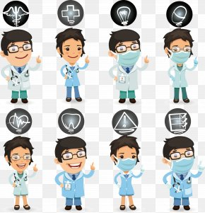 Cartoon Doctors And Nurses - Nurse Physician Health Care Cartoon PNG
