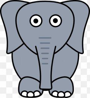 Grey Elephant Cliparts - White Elephant Asian Elephant Clip Art PNG