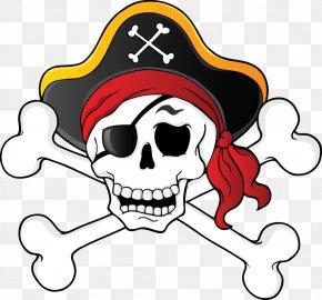 Pirate - Skull & Bones Piracy Skull And Crossbones Clip Art PNG