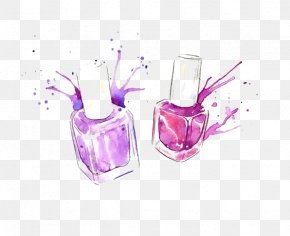 Drawing Nail Polish - Nail Polish Cosmetics Drawing Illustration PNG
