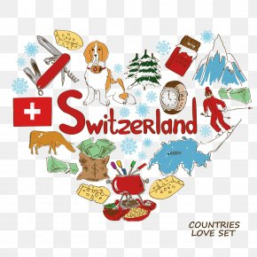 Switzerland Elements - Switzerland Fondue Stock Illustration Clip Art PNG