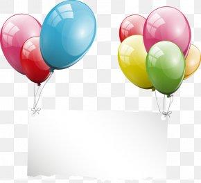 Balloon Tag - Balloon Party Birthday Greeting Card Clip Art PNG