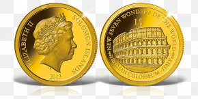 Coin - Coin New7Wonders Of The World Colosseum Gold Samlerhuset PNG