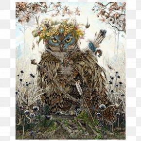 Great Horned Owl - Great Horned Owl Art Decoupage PNG