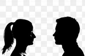 Silhouette - Silhouette Woman Portrait Clip Art PNG