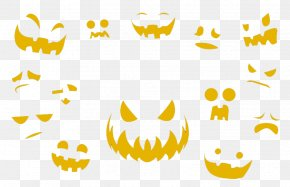 Halloween Vector Elements Pattern - Yellow Area Clip Art PNG
