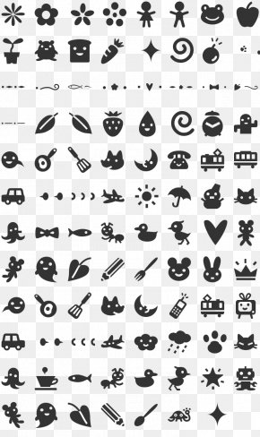 Kids Font - Zapf Dingbats Typography Typeface Font PNG