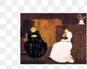 Painting - Painting La Causette [The Chat] La Chambre Rose [The Pink Bedroom] Pot Of Flowers Deux Ouvrières Dans L'atelier De Couture [Two Seamstresses In The Workroom] PNG