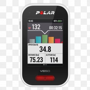 V650 Cycling Computer With Heart Rate And Bag Polar ElectroCycling - Heart Rate Monitor Polar V650 Polar PNG
