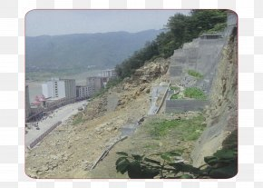 The Mountain Collapsed And Flooded The Streets - Earthquake Flood Landslide Natural Disaster PNG