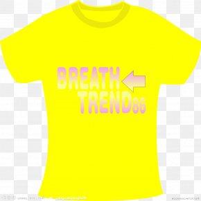 Yellow T-shirt - T-shirt Logo Sleeve Smiley Font PNG