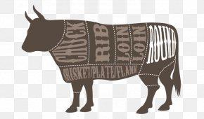 Swiss Beef Steak Cut - Round Steak Cut Of Beef Meat Beef Cattle PNG