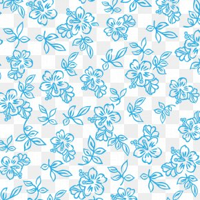 Blue Flower Pattern PNG
