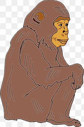 Brown Bear Fictional Character - Cartoon Clip Art Old World Monkey Fictional Character Brown Bear PNG