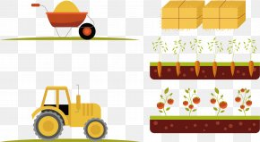 Vector Tractor - Euclidean Vector Element Drawing Animal Icon PNG