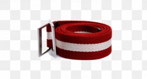 Red And White Canvas Belt - Fashion Accessory PNG