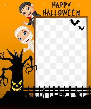 Halloween Vector Border - Halloween Illustration PNG