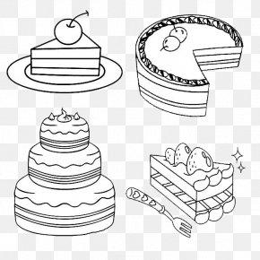 Four Big Cakes - Birthday Cake Milk Ice Cream Cake Chocolate Cake Cheesecake PNG