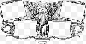 Angel Border - Ezio Auditore Picture Frames Line Art Clip Art PNG