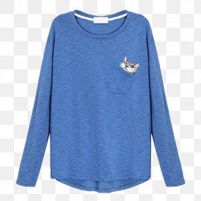Blue T-shirt - T-shirt Blue Sleeve Clothing PNG