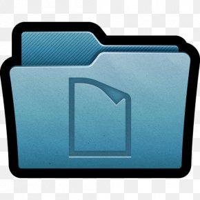 Folder Documents - Blue Rectangle Font PNG